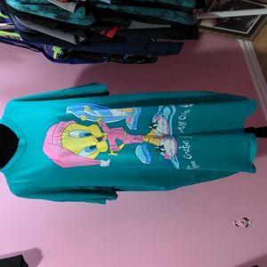 Vintage 1998 Looney Tunes Tweety Sleep Shirt